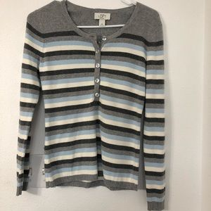 Ann Taylor Loft Cardigan Striped New Blue size S